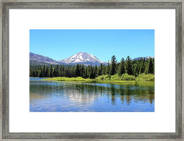 Framed Print featuring the photograph Manzanita Lake Reflection 1 by Dawn Richards