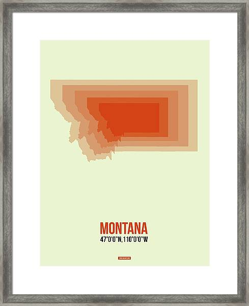 Map Of Montana Framed Print