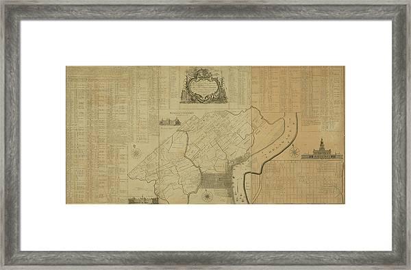Map Of Philadelphia, Pennsylvania 1774 Framed Print
