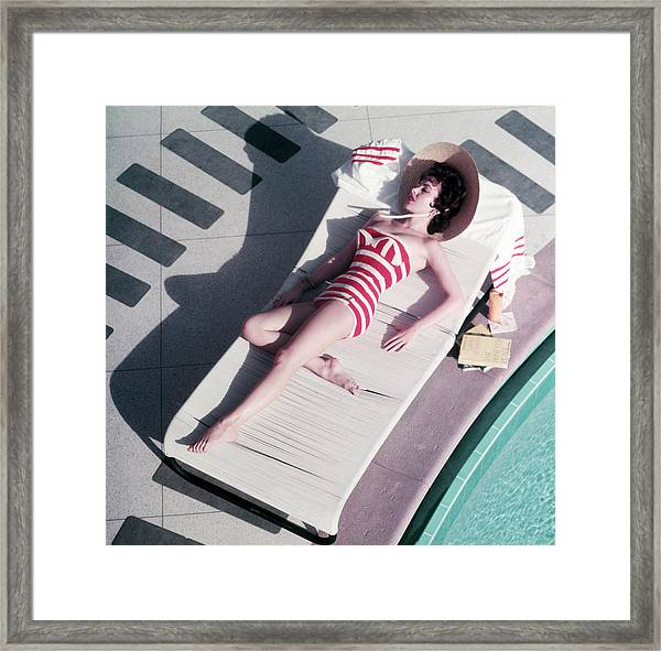 Mara Lane At The Sands Framed Print by Slim Aarons