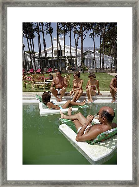 Marbella Party Framed Print