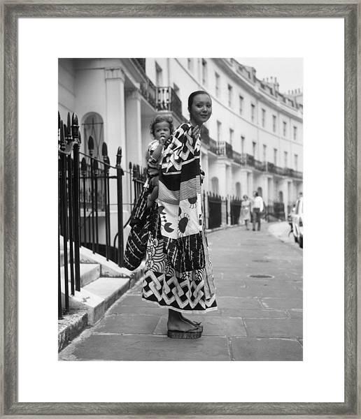 Marie Helvin Framed Print by Roger Jackson