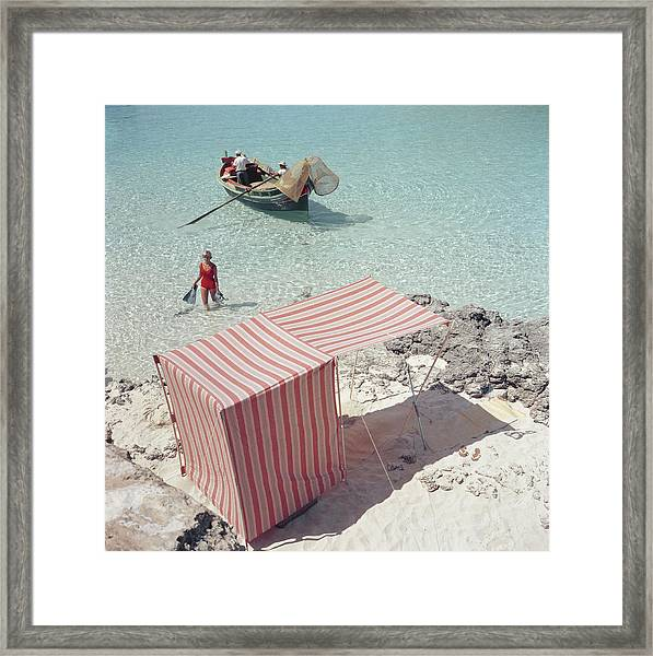Marietine Birnie, Blue Lagoon Framed Print