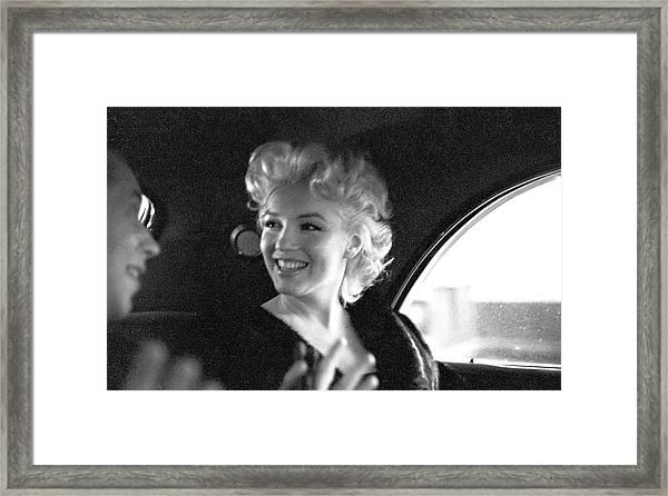 Marilyn & Dick Framed Print