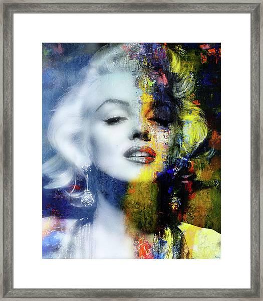 Marilyn Duality Framed Print