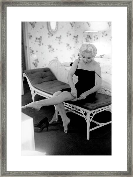 Marilyn Gets Ready For A Night Out Framed Print