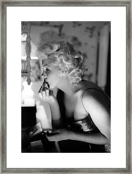 Marilyn Getting Ready To Go Out Framed Print