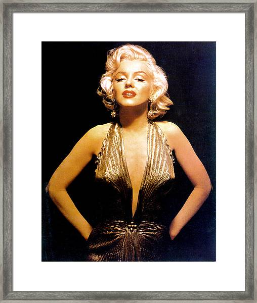 Marilyn Monroe Portrait Framed Print by Michael Ochs Archives