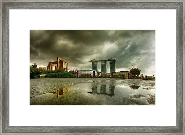 Framed Print featuring the photograph Marina Bay Sands Hotel by Chris Cousins