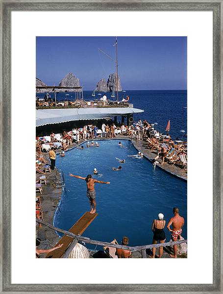 Marina Piccola Framed Print by Slim Aarons