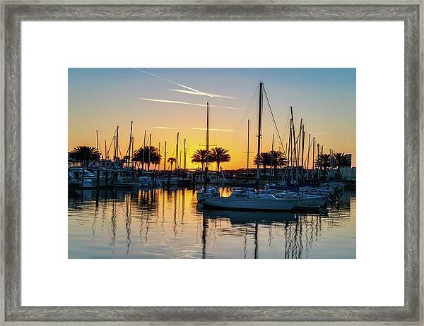 Marina Sunrise-1 Framed Print