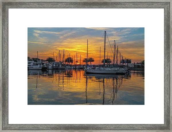 Marina Sunrise-2 Framed Print