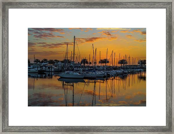 Marina Sunrise-3 Framed Print