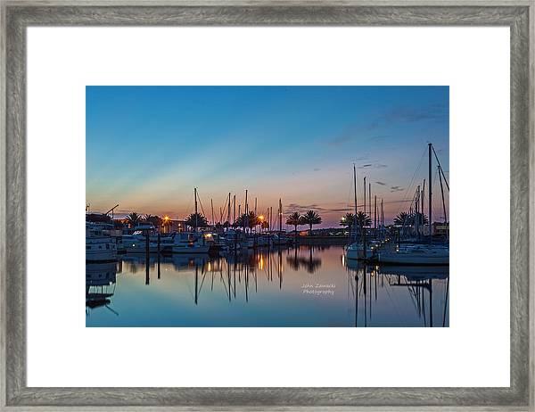 Marina Sunrise-4 Framed Print