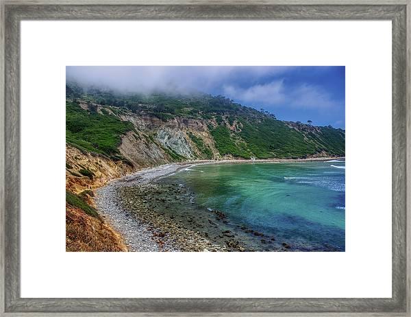 Marine Layer Over Bluff Cove Framed Print