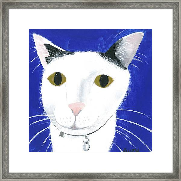 Framed Print featuring the painting Marley by Suzy Mandel-Canter