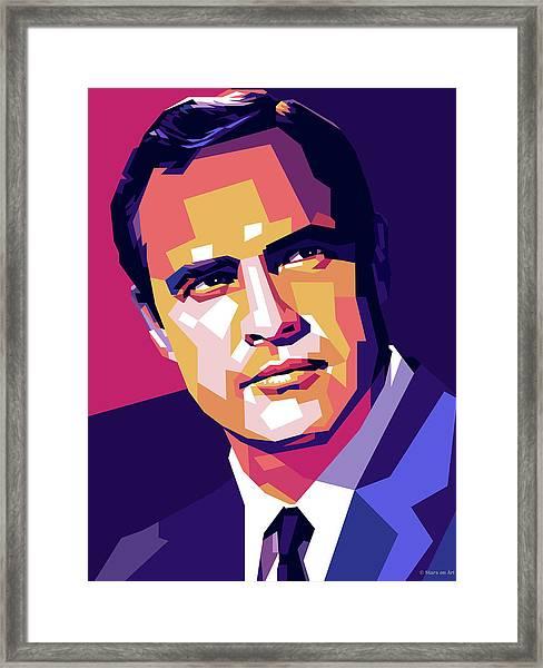 Marlon Brando Illustration Framed Print