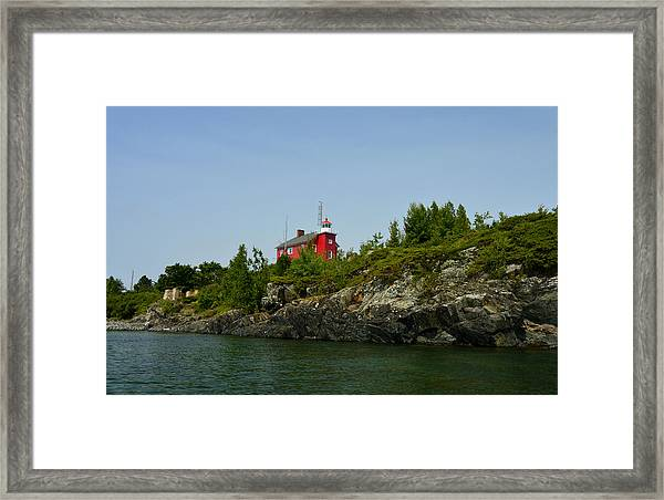 Marquette Michigan Lighthouse Framed Print