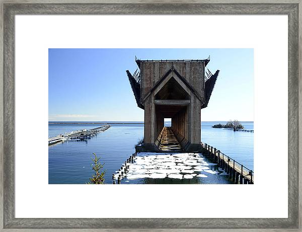 Marquette Ore Dock Cathedral Framed Print