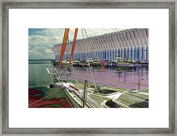 Marquette Ore Dock Lower Harbor. Framed Print