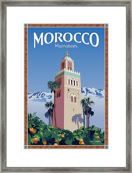 Marrakesh Travel Poster Framed Print