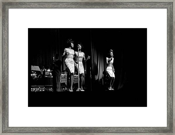 Martha And The Vandellas At The Apollo Framed Print
