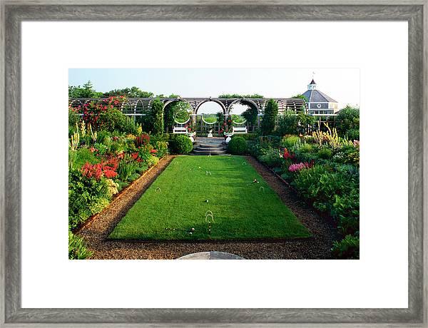 Marthas Vineyard Garden W Croquet Court Framed Print