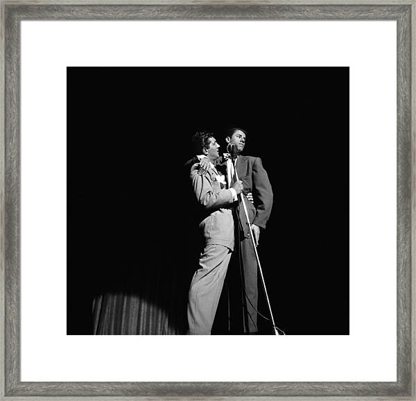 Martin And Lewis At The Paramount Framed Print by Donaldson Collection