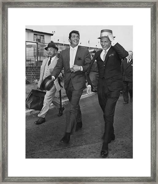 Martin And Sinatra Framed Print