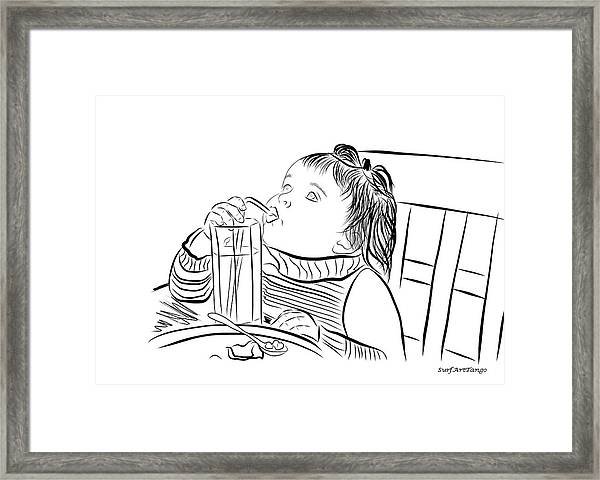 Mary. Graphic Series. Framed Print