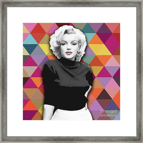 Framed Print featuring the painting Marylin Monroe Diamonds by Carla Bank