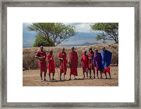 Maasai Men Framed Print