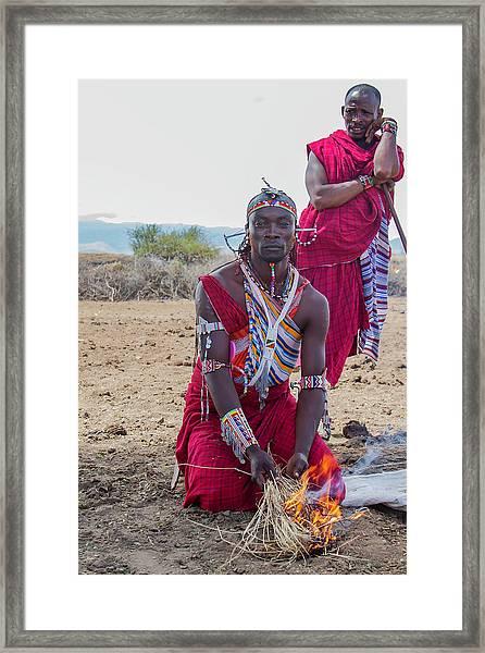 Maasai Warrior Framed Print
