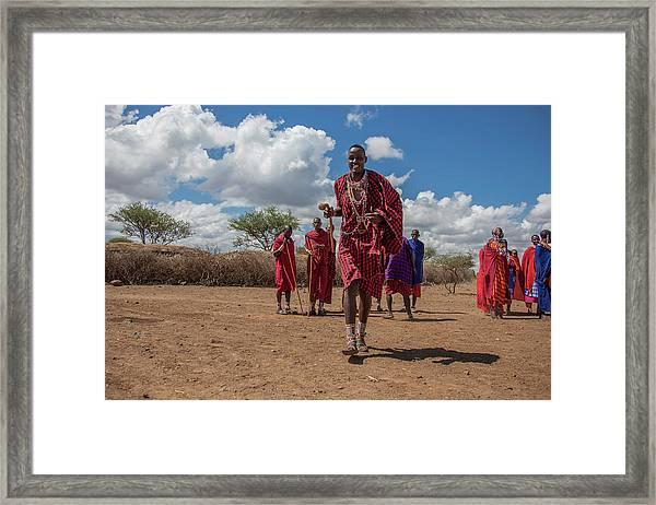 Maasai Welcome Framed Print