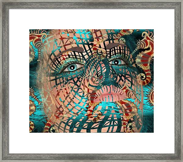Mask Dreaming Of The Sea Framed Print