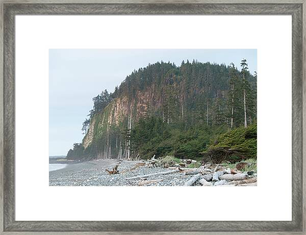 Masset Tow Hill From Agate Beach Framed Print