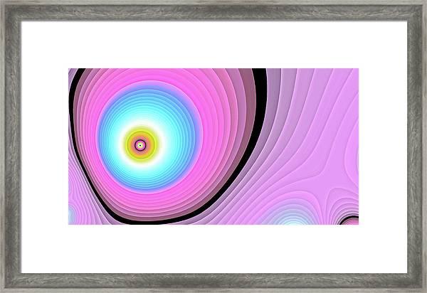 Massive Hurricane Pink Framed Print