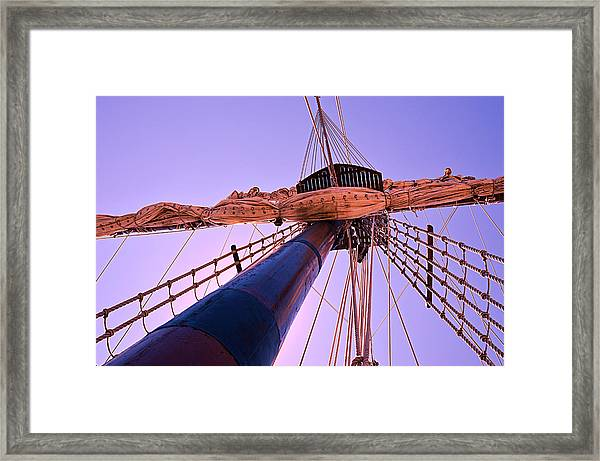 Mast And Sails Framed Print