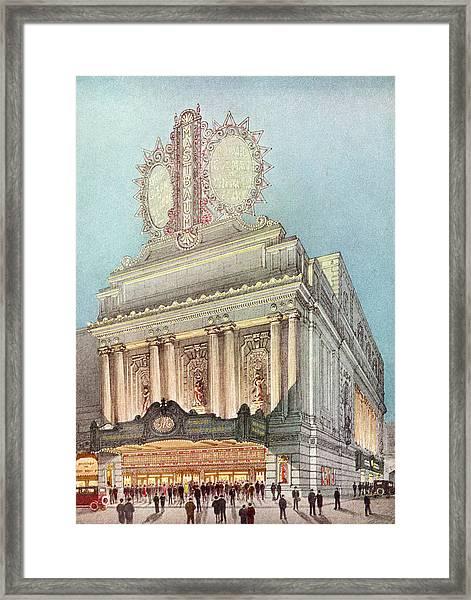 Mastbaum Theatre Framed Print