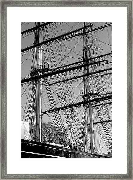 Masts And Rigging Of The Cutty Sark Framed Print