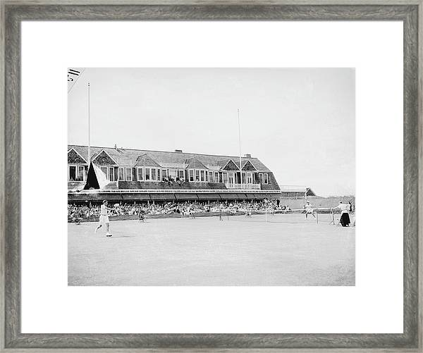 Match At The Meadow Club Framed Print