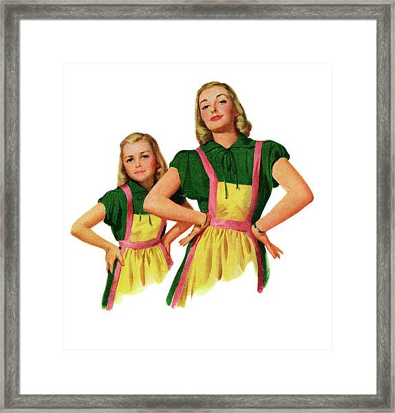 Matching Mother And Daughter Framed Print