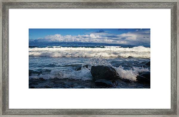 Maui Breakers Pano Framed Print