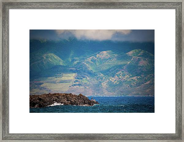 Maui Fisherman Framed Print