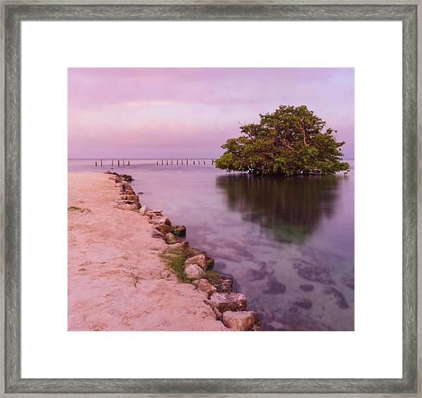 Mayan Sea Reflection 2 Framed Print