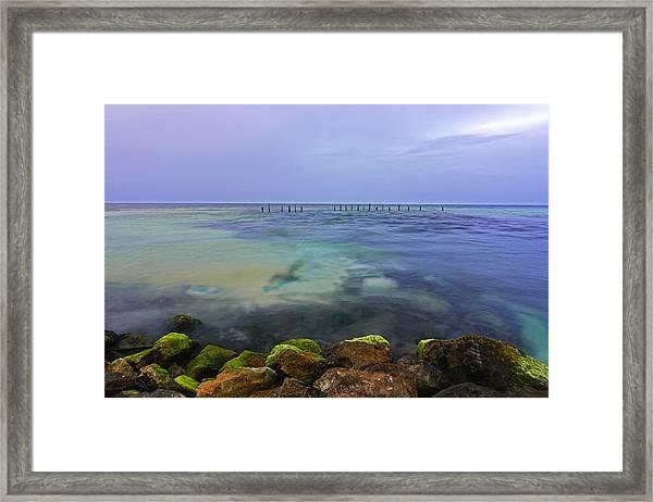 Mayan Sea Rocks Framed Print