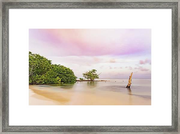 Mayan Sea Framed Print