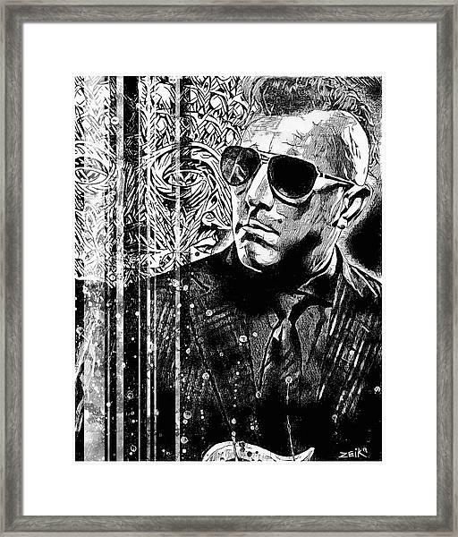 Maynard - Noir Series Framed Print by Bobby Zeik