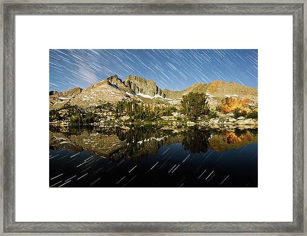 Mcgee Star Trails Framed Print
