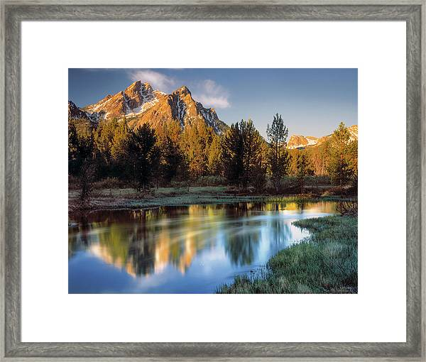 Mcgown Peak Sunrise  Framed Print